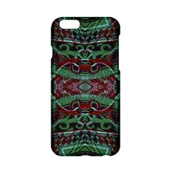 Tribal Ornament Pattern In Red And Green Colors Apple Iphone 6 Hardshell Case by dflcprints