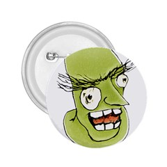 Mad Monster Man with Evil Expression 2.25  Button by dflcprints