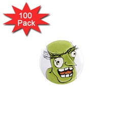 Mad Monster Man With Evil Expression 1  Mini Button Magnet (100 Pack) by dflcprints