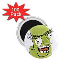 Mad Monster Man With Evil Expression 1 75  Button Magnet (100 Pack) by dflcprints
