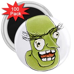Mad Monster Man With Evil Expression 3  Button Magnet (100 Pack) by dflcprints