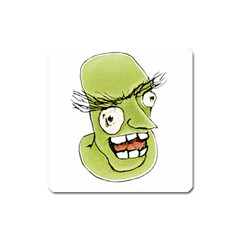 Mad Monster Man With Evil Expression Magnet (square) by dflcprints