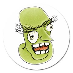 Mad Monster Man With Evil Expression Magnet 5  (round) by dflcprints