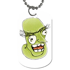 Mad Monster Man With Evil Expression Dog Tag (two Sided)  by dflcprints