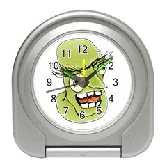 Mad Monster Man With Evil Expression Desk Alarm Clock by dflcprints