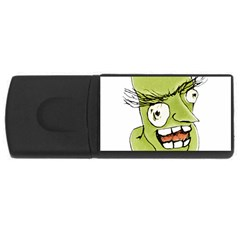 Mad Monster Man With Evil Expression 4gb Usb Flash Drive (rectangle) by dflcprints