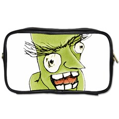 Mad Monster Man With Evil Expression Travel Toiletry Bag (two Sides) by dflcprints