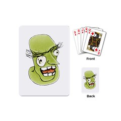 Mad Monster Man With Evil Expression Playing Cards (mini) by dflcprints