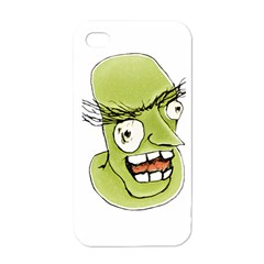Mad Monster Man With Evil Expression Apple Iphone 4 Case (white) by dflcprints