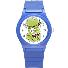 Mad Monster Man With Evil Expression Plastic Sport Watch (small) by dflcprints