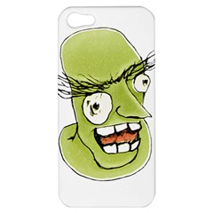 Mad Monster Man With Evil Expression Apple Iphone 5 Hardshell Case by dflcprints