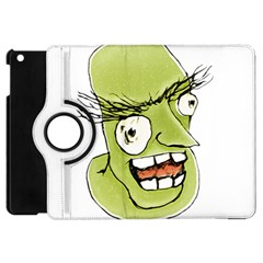 Mad Monster Man With Evil Expression Apple Ipad Mini Flip 360 Case by dflcprints
