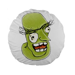 Mad Monster Man With Evil Expression 15  Premium Round Cushion  by dflcprints