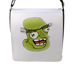 Mad Monster Man With Evil Expression Flap Closure Messenger Bag (large) by dflcprints