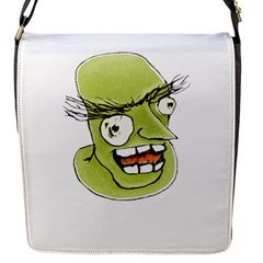 Mad Monster Man With Evil Expression Flap Closure Messenger Bag (small) by dflcprints