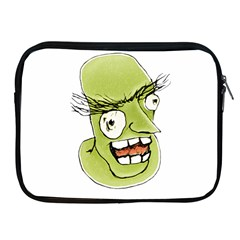 Mad Monster Man With Evil Expression Apple Ipad Zippered Sleeve by dflcprints
