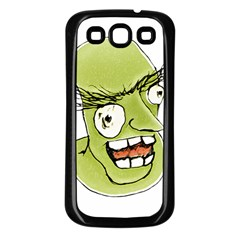 Mad Monster Man With Evil Expression Samsung Galaxy S3 Back Case (black) by dflcprints