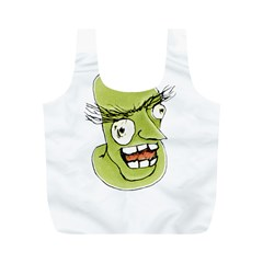 Mad Monster Man With Evil Expression Reusable Bag (m) by dflcprints