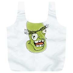 Mad Monster Man With Evil Expression Reusable Bag (xl) by dflcprints