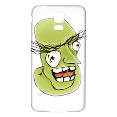 Mad Monster Man With Evil Expression Samsung Galaxy S5 Back Case (white)