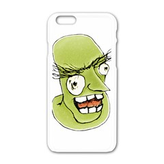 Mad Monster Man With Evil Expression Apple Iphone 6 White Enamel Case by dflcprints
