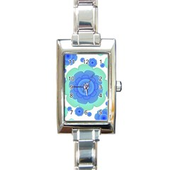 Retro Style Decorative Abstract Pattern Rectangular Italian Charm Watch by dflcprints