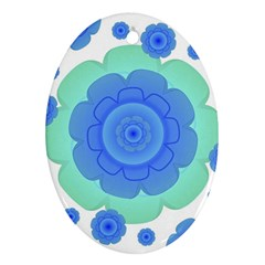 Retro Style Decorative Abstract Pattern Oval Ornament by dflcprints