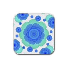 Retro Style Decorative Abstract Pattern Drink Coaster (square) by dflcprints