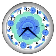 Retro Style Decorative Abstract Pattern Wall Clock (silver) by dflcprints