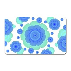 Retro Style Decorative Abstract Pattern Magnet (rectangular) by dflcprints
