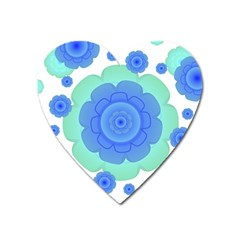 Retro Style Decorative Abstract Pattern Magnet (heart) by dflcprints