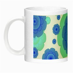 Retro Style Decorative Abstract Pattern Glow In The Dark Mug by dflcprints