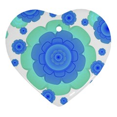 Retro Style Decorative Abstract Pattern Heart Ornament (two Sides) by dflcprints
