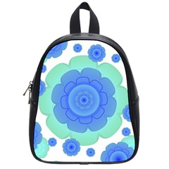 Retro Style Decorative Abstract Pattern School Bag (small) by dflcprints
