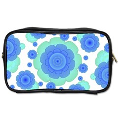 Retro Style Decorative Abstract Pattern Travel Toiletry Bag (one Side) by dflcprints