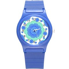 Retro Style Decorative Abstract Pattern Plastic Sport Watch (small) by dflcprints