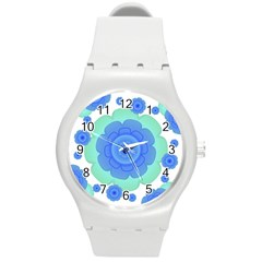 Retro Style Decorative Abstract Pattern Plastic Sport Watch (medium) by dflcprints