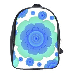 Retro Style Decorative Abstract Pattern School Bag (xl) by dflcprints