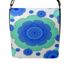 Retro Style Decorative Abstract Pattern Flap Closure Messenger Bag (large) by dflcprints