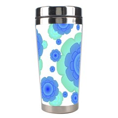 Retro Style Decorative Abstract Pattern Stainless Steel Travel Tumbler by dflcprints