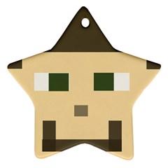 Custom Block Head Star Ornament