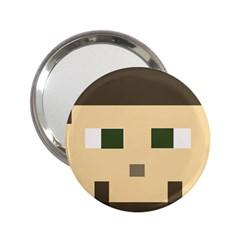 Custom Block Head Handbag Mirror (2 25 ) by BlockCrafts