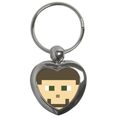 Custom Block Head Key Chain (heart)