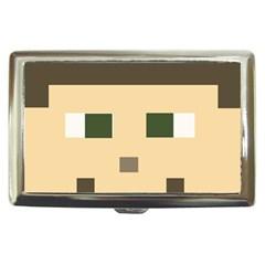 Custom Block Head Cigarette Money Case by BlockCrafts