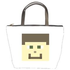 Custom Block Head Bucket Handbag