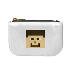 Custom Block Head Coin Change Purse by BlockCrafts