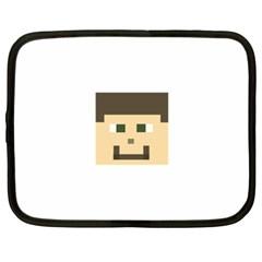 Custom Block Head Netbook Sleeve (xxl) by BlockCrafts