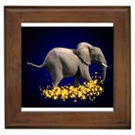 Elephant Sparkle Framed Tile