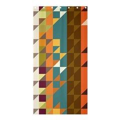 Shapes In Retro Colors Shower Curtain 36  X 72  (stall)