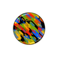 Colorful Shapes On A Black Background Hat Clip Ball Marker (10 Pack) by LalyLauraFLM